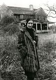 Little Edie in front of Grey Gardens 1970's
